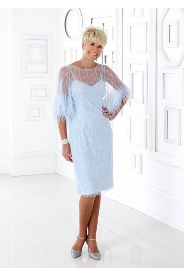 Embellished Feather Detail Dress - DC375E