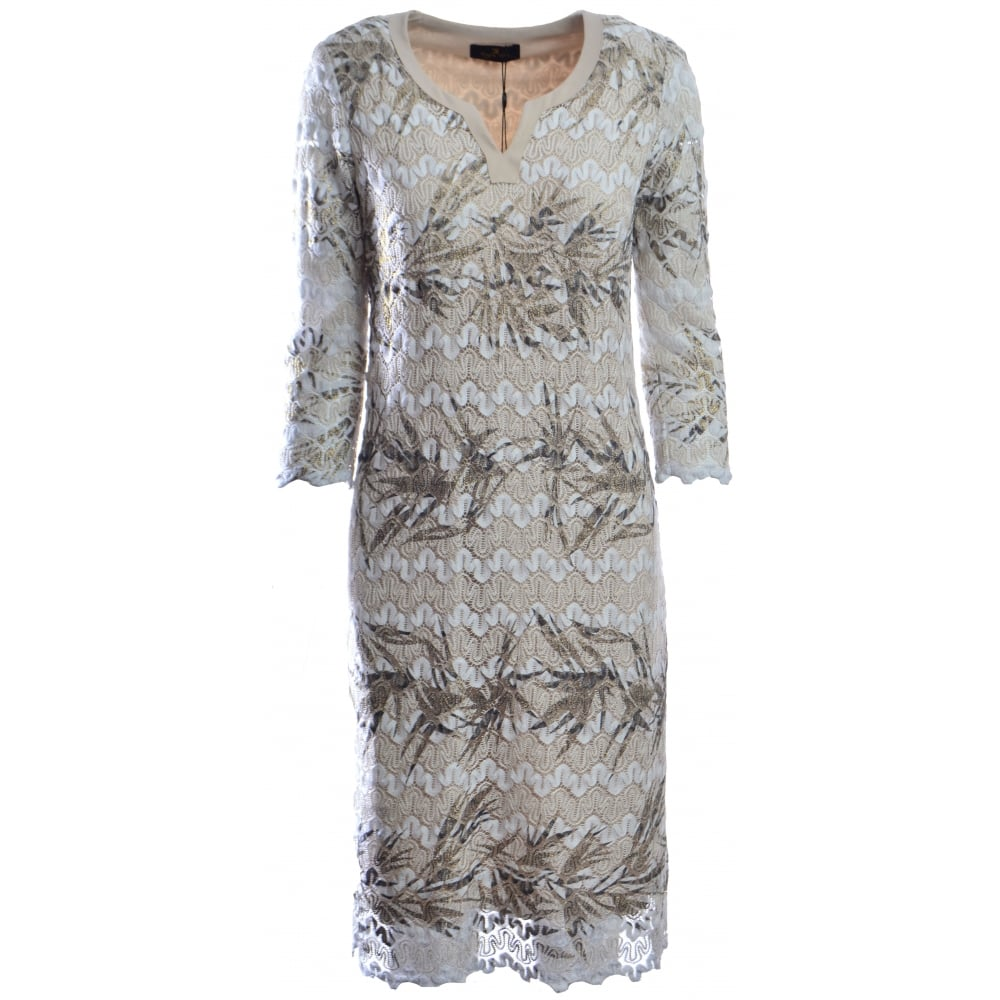 30cea1f0ce Eugen Klein | Lace Applique Midi Dress |7323-04 | Bentleys Banchory