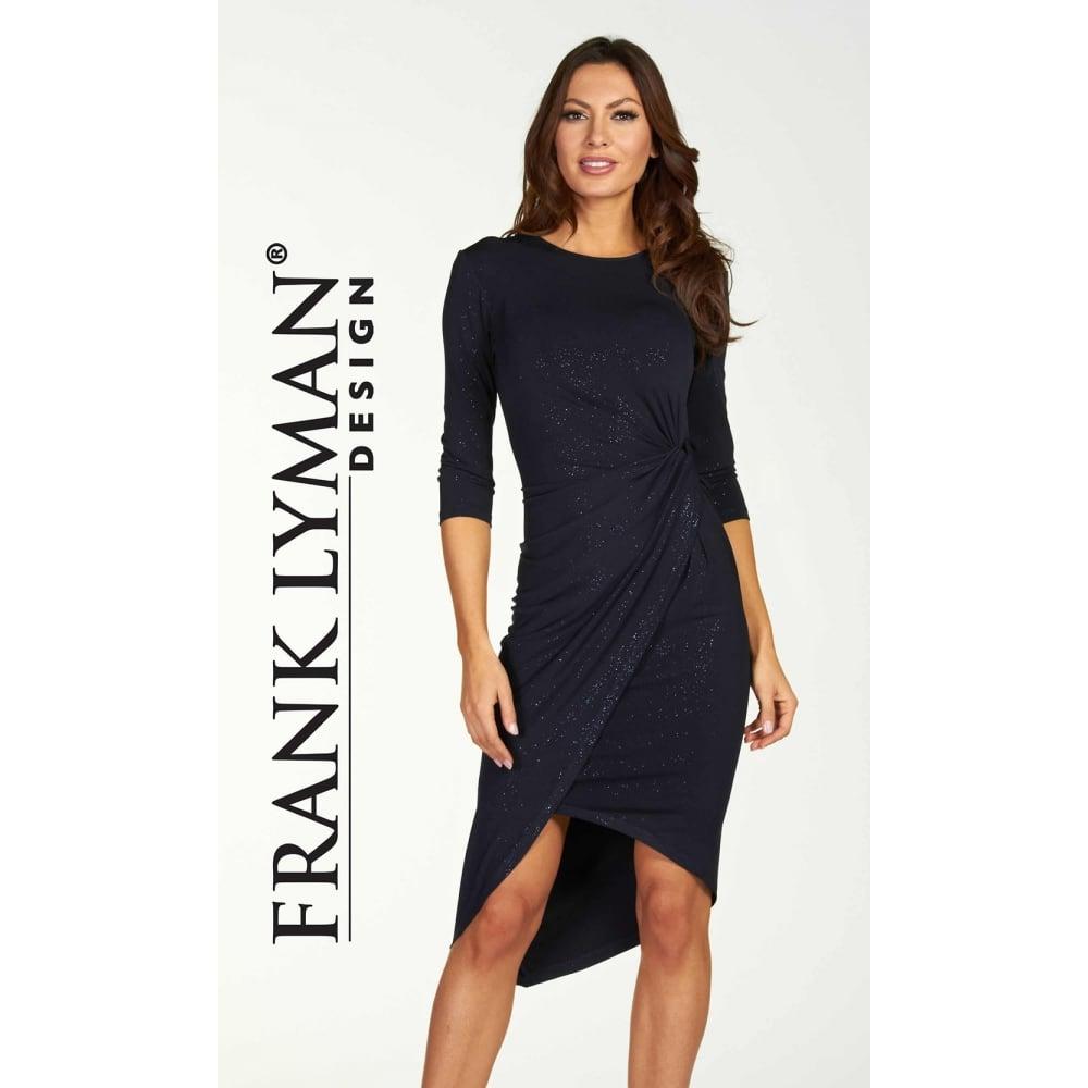 Asymmetric Drape Dress: Aysmmetric Drape Glittler Dress