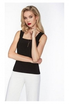 Basic Square Neckline Camisole - Black - 054
