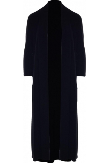 Basic Waterfall Drape Longline Cardigan - 183193