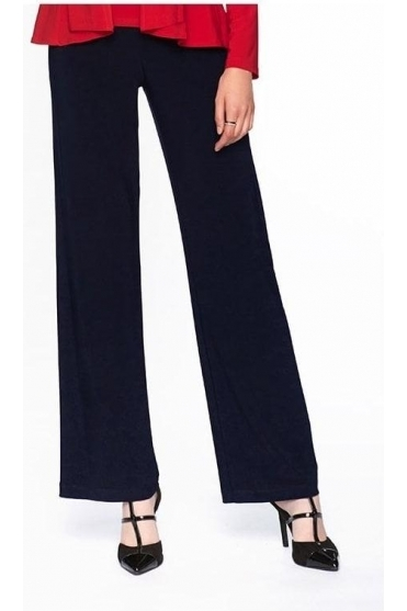 Basic Wide Leg Trousers - Midnight - 006