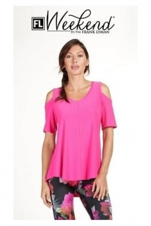 Cold Shoulder Drape Blouse - 182005
