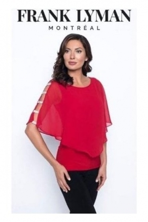 Cut Out Diamante Detail Top - Red - 195291