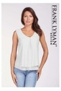 Frank Lyman Double Layer Chiffon Blouse - Off White - 61175