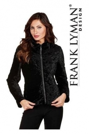 Embelleshed Velvet Quilted Jacket - 174745