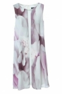 Frank Lyman Embellished Floral Chiffon Dress - 188131