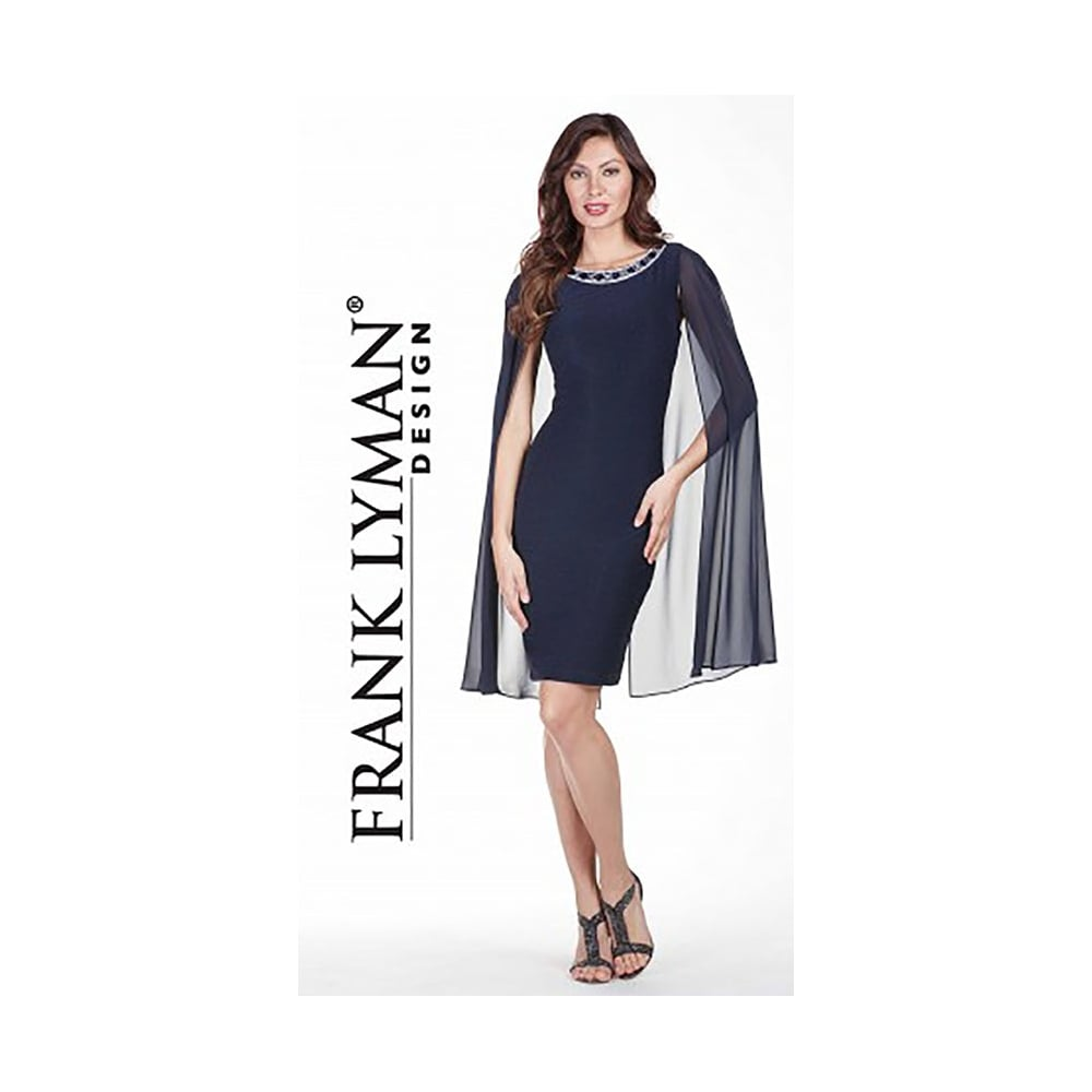 737b42c467 Frank Lyman Embellished Textured Cape Dress - 179256. Click to enlarge