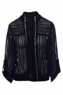 Frank Lyman Embroidered Zip Bomber Jacket - 182170