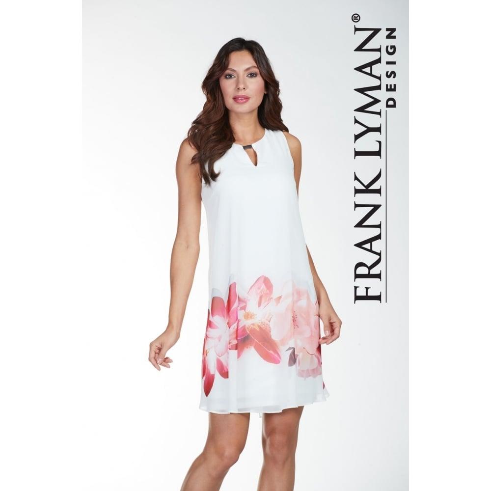 14da9e70e82 Frank Lyman | Floral Chiffon Shift Dress | 172294 | Bentleys Banchory