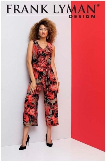Floral Cropped Jumpsuit - 191170