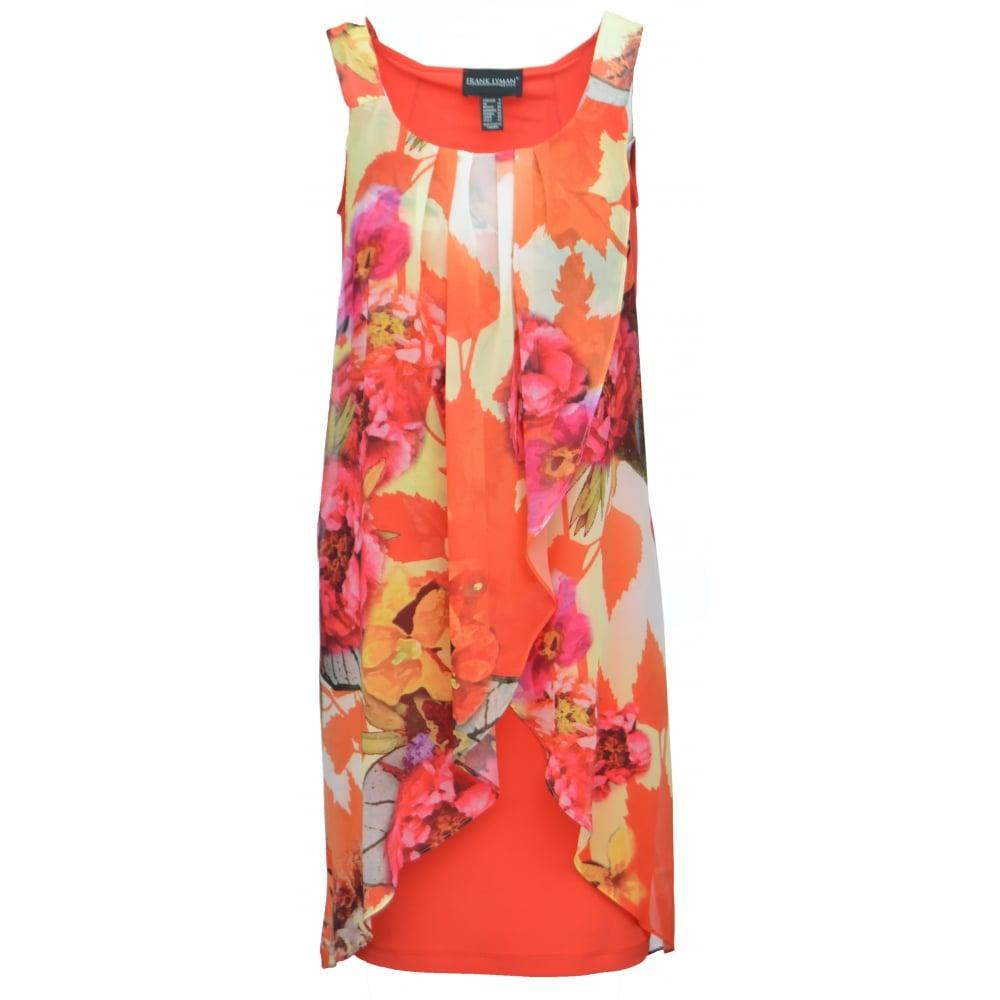 Pink dress with chiffon overlay
