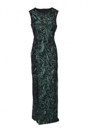 Green Sequin Sleeveless Gown - 59179