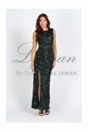 Frank Lyman Green Sequin Sleeveless Gown - 59179