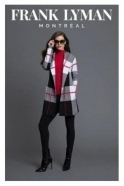 Frank Lyman Hooded Check Knit Cover Up - 194141U