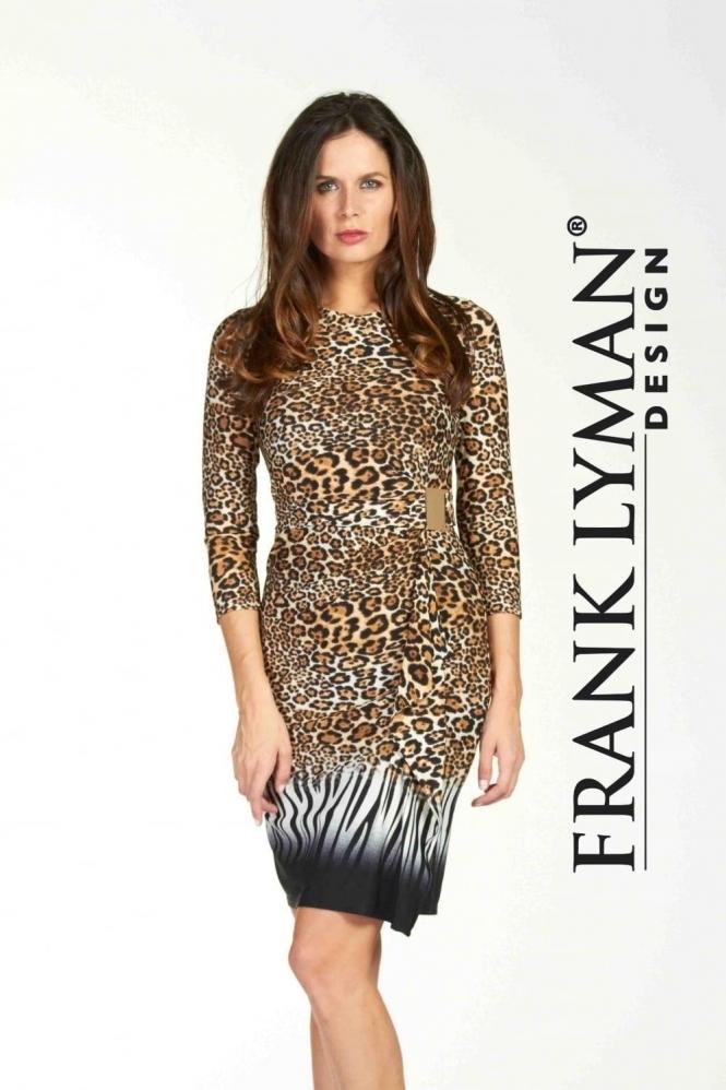 341c1f1d52a0a Frank Lyman | Leopard Print Wrap Dress | 64433| Bentleys Banchory