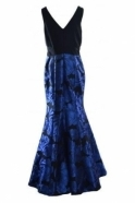 Frank Lyman Mesh Insert Floral Structured Gown - 188178