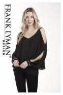Frank Lyman Pearl Embellished Overlay Blouse - 183211