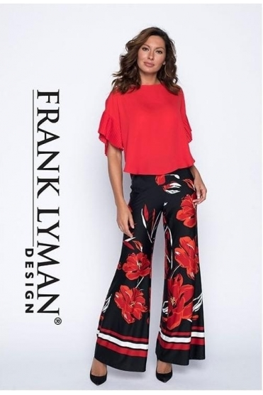 Pull On Floral Print Trousers - 191278