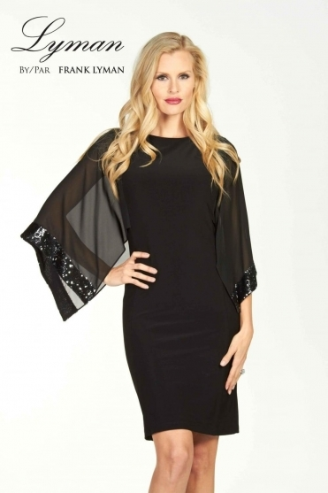 Sequin Cape Dress - 69028
