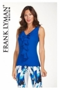 Frank Lyman Sleeveless Frill Blouse - 181181