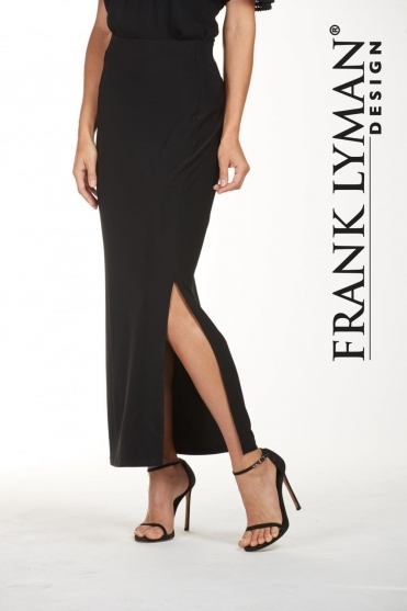 Slit Elasticated Waist Long Skirt - 181080
