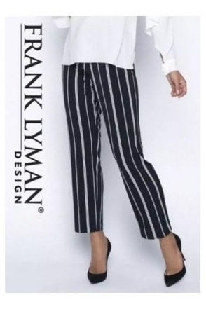 Stripe Straight Leg Trousers - 191428