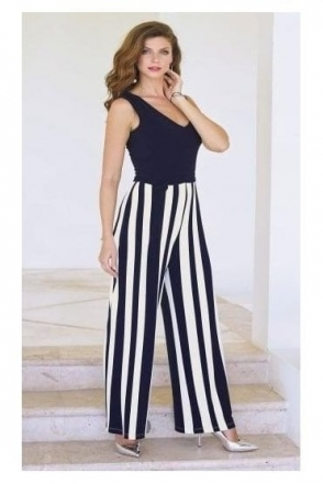 Striped Multi Color Jumpsuit - 181592