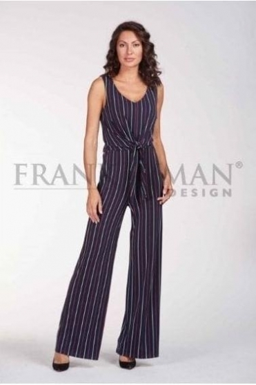 Striped Multi Colour Jumpsuit - 186428