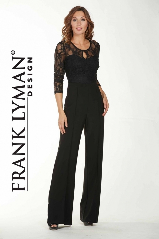 Frank Lyman Tailored Wide Leg Trousers - 175084