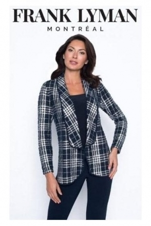 Textured Check Three Piece - Navy/Silver - 194773