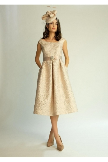 Two Piece Embossed Dress and Jacket - 6466UK/6464CH