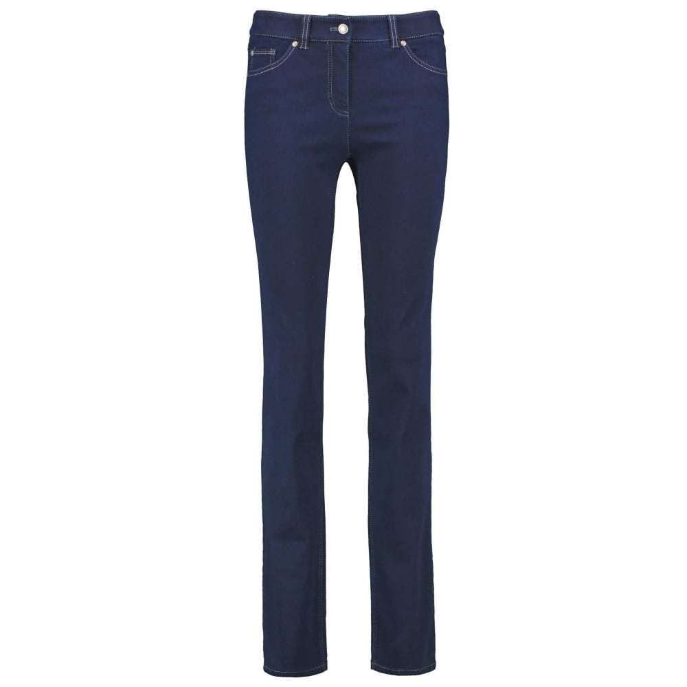 Slim fit five-pocket trousers Straight Fit blue female Gerry Weber iRIjPWmAIS