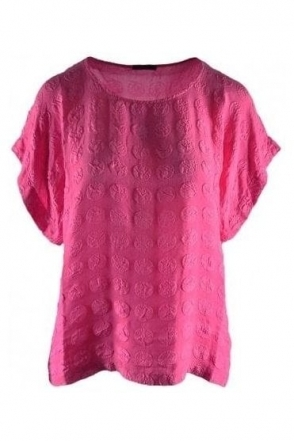 Bubble Pattern Silk Blouse - Pink - 51762-S134-181