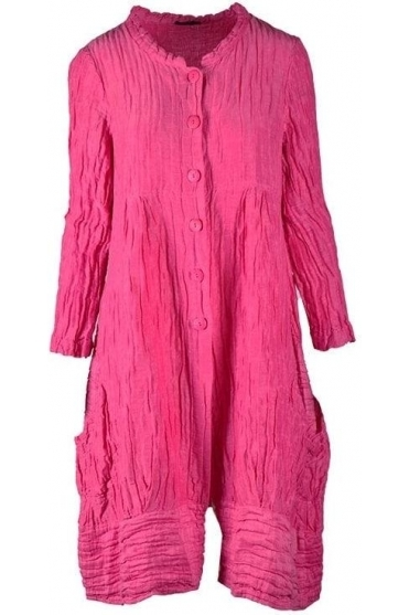 Crinkle Ballooon Hem Cover-up - Pink - 71121-ST1-181