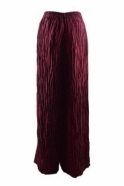 GRIZAS Crinkle Linen Blend Trousers - Burgundy - 3649-ST1-175