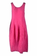 GRIZAS Crinkle Silk Blend Sleeveless Dress - Pink- 9090-ST1-181