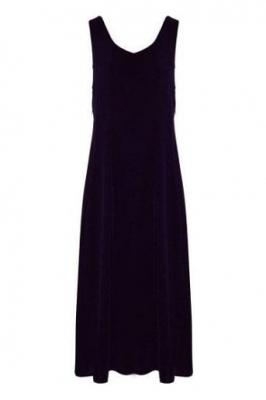 Velvet Balloon Hem Dress - Royal Purple - 9090-X20-178