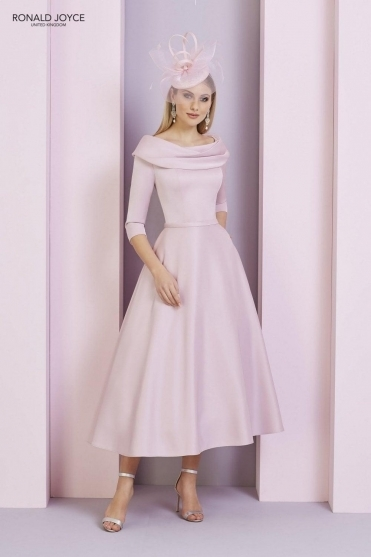 Bateau Sleeved Dress - 29333 Blush