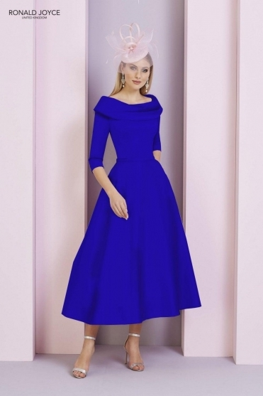 Bateau Sleeved Dress - 29333 Royal Blue