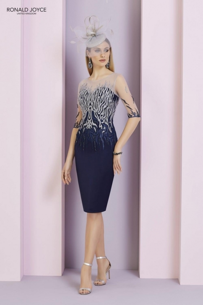 Invitations by Ronald Joyce Illusion Beaded Detail Dress - 29336