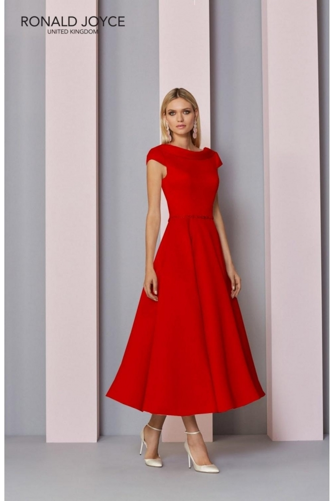 Invitations by VENI Jewel Embellished Dress - 29321 Red