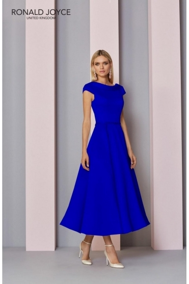 Jewel Embellished Dress - 29321 Royal Blue