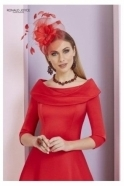 Invitations by VENI Bateau Sleeved Dress - 29333 Red