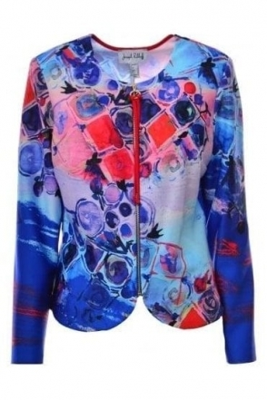 Abstract Multi Print Zip Jacket - 182746
