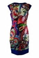 Joseph Ribkoff Abstract Print Cap Sleeve Dress - 191696