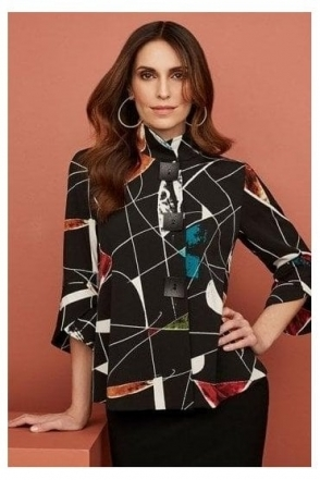 Abstract Print Jacket - Black/Multi - 203664