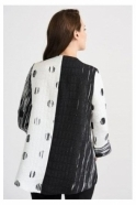 Joseph Ribkoff Abstract Print Jacket - Vanilla/Black - 201208