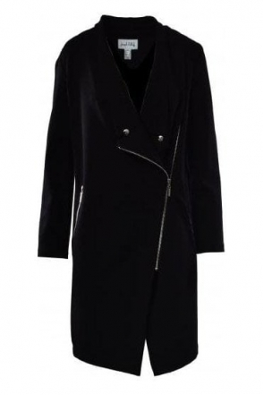 Asymmetric Longline Jacket (Black) - 183353