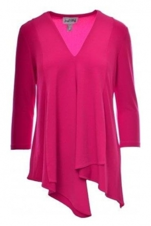 Asymmetric Panel Tunic - Neon Pink - 161066G